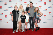(EDITORIAL USE ONLY) (L-R) Tori Spelling, Dean McDermott and family attend the 2019 iHeartRadio Music Festival at T-Mobile Arena on September 20, 2019 in Las Vegas, Nevada.