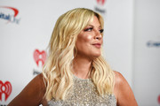 (EDITORIAL USE ONLY) Tori Spelling attends the 2019 iHeartRadio Music Festival at T-Mobile Arena on September 20, 2019 in Las Vegas, Nevada.