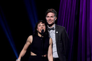 (EDITORIAL USE ONLY. NO COMMERCIAL USE) (L-R) Kim Schifino and Matt Johnson of Matt and Kim presemnts onstage at the 2019 iHeartRadio Podcast Awards Presented by Capital One at the iHeartRadio Theater LA on January 18, 2019 in Burbank, California.