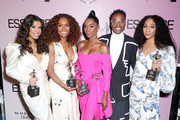 (L-R) Honoree Hailie Sahar, Honoree Janet Mock, Honoree Angelica Ross, Billy Porter, and Honoree Mj Rodriguez attends the 2020 13th Annual ESSENCE Black Women in Hollywood Luncheon at Beverly Wilshire, A Four Seasons Hotel on February 06, 2020 in Beverly Hills, California.