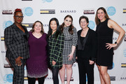 (L-R) Effie T. Brown, Melissa Silverstein, Unjoo Moon, Beanie Feldstein, Kathryn Kolbert and Sian Beilock attend the 2020 Athena Film Festival awards ceremony at The Diana Center at Barnard College on February 26, 2020 in New York City.