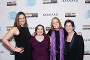(L-R) Barnard College president Sian Beilock, Athena film festival co-founder Melissa Silverstein, Gloria Steinem and Athena film festival co-founder Kathryn Kolbert attend the 2020 Athena Film Festival awards ceremony at The Diana Center at Barnard College on February 26, 2020 in New York City.