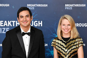 (L-R) Enrique Torres and Marissa Mayer attend the 2020 Breakthrough Prize Red Carpet at NASA Ames Research Center on November 03, 2019 in Mountain View, California.