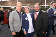 (L-R) Bob Odenkirk, Madeleine Olnek, and Max Rifkind-Barron attend the 2020 Film Independent Spirit Awards on February 08, 2020 in Santa Monica, California.