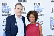 (L-R) Roderick Spencer and Alfre Woodard attend the 2020 Film Independent Spirit Awards on February 08, 2020 in Santa Monica, California.