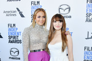 (L-R) Jennifer Lopez and Lorene Scafaria attend the 2020 Film Independent Spirit Awards on February 08, 2020 in Santa Monica, California.