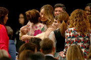 (L-R) Kaitlyn Dever, Olivia Wilde, and Beanie Feldstein attend the 2020 Film Independent Spirit Awards on February 08, 2020 in Santa Monica, California.