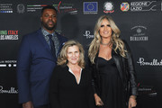 Winston Duke, Valeria Rumori and Tiziana Rocca attend  the 2020 Filming Italy Awards at the Italian Cultural Institute on January 22, 2020 in Los Angeles, California.