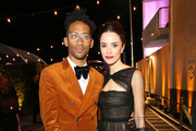 Actor Abigail Spencer (R) and guest attend the 2020 Walt Disney Company Post-Golden Globe Awards Show celebration at The Beverly Hilton Hotel on January 05, 2020 in Beverly Hills, California.