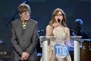 Elliot Easton and Lisa Loeb speak onstage at The 2020 NAMM Show – 35th Annual NAMM TEC Awards on January 18, 2020 in Anaheim, California.