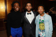 (L-R) Caleb McLaughlin, Jharrel Jerome and Asante Blackk attend 2020 Netflix SAG After Party at Sunset Tower on January 19, 2020 in Los Angeles, California.