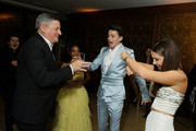 Gaten Matarazzo, Chief Content Officer for Netflix Ted Sarandos, Priah Ferguson, Noah Schnapp and Millie Bobby Brown attend 2020 Netflix SAG After Party at Sunset Tower on January 19, 2020 in Los Angeles, California.