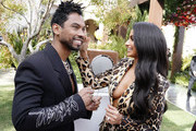(L-R) Miguel and Nazanin Mandi attend 2020 Roc Nation THE BRUNCH on January 25, 2020 in Los Angeles, California.