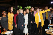 (L-R) Aisha Harris, Shaandiin Tome, Callie Holley, Hillary Rodham Clinton, Eva Longoria, Gloria Steinem, Keri Putnam and Amy Emmerich take a selfie at the 2020 Women at Sundance Celebration hosted by Sundance Institute and Refinery29, Presented by LUNA at Juniper at Newpark on January 27, 2020 in Park City, Utah.