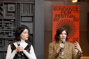 St. Vincent and Carrie Brownstein speak at the 2020 Sundance Film Festival - Cinema Cafe With Carrie Brownstein And St. Vincent at Filmmaker Lodge on January 25, 2020 in Park City, Utah.