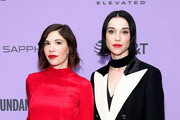 "Carrie Brownstein and Annie Clark attend the 2020 Sundance Film Festival - ""The Nowhere Inn"" Premiere at Library Center Theater on January 25, 2020 in Park City, Utah."