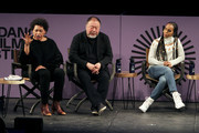 Carrei Mae Weems, Ai Weiwei and Kerry Washington speak at the 2020 Sundance Film Festival - Power Of Story: Just Art Panel at Egyptian Theatre on January 25, 2020 in Park City, Utah.