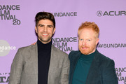 """Justin Mikita and Jesse Tyler Ferguson attend the """"Welcome To Chechnya"""" Premiere at Prospector Square Theatre on January 26, 2020 in Park City, Utah."""