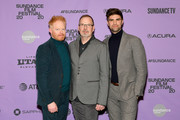 """Jesse Tyler Ferguson, David France and Justin Mikita attend the """"Welcome To Chechnya"""" Premiere at Prospector Square Theatre on January 26, 2020 in Park City, Utah."""