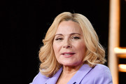 Kim Cattrall of 'Filthy Rich' speaks during the Fox segment of the 2020 Winter TCA Press Tour at The Langham Huntington, Pasadena on January 07, 2020 in Pasadena, California.