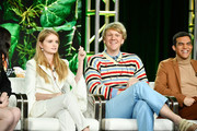 "(L-R) Maeve Press, Kayla Cromer, Josh Thomas and Adam Faison of ""Everything's Going to be Ok"" speak during the Freeform segment of the 2020 Winter TCA Press Tour at The Langham Huntington, Pasadena on January 17, 2020 in Pasadena, California."