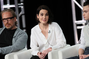 """Michelle Dockery of """"Defending Jacob"""" speaks onstage during the Apple TV+ segment of the 2020 Winter TCA Tour at The Langham Huntington, Pasadena on January 19, 2020 in Pasadena, California."""
