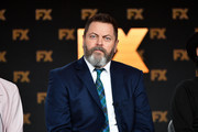 Nick Offerman of 'Devs' speaks during the FX segment of the 2020 Winter TCA Tour at The Langham Huntington, Pasadena on January 09, 2020 in Pasadena, California.