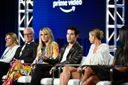 Sara Rea, Tim Gunn, Heidi Klum, Joseph Altuzarra, Nicole RIchie and Naomi Campell of Amazon Prime's 'Making the Cut' speak onstage during the 2020 Winter TCA Tour Day 8 at The Langham Huntington, Pasadena on January 14, 2020 in Pasadena, California.