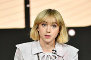 "Zoe Kazan of ""The Plot Against America"" speaks during the HBO segment of the 2020 Winter TCA Press Tour at The Langham Huntington, Pasadena on January 15, 2020 in Pasadena, California."