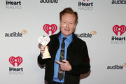 (FOR EDITORIAL USE ONLY) Conan O'Brien, winner of the Best Comedy Podcast award for 'Conan O'Brien Needs A Friend,' attends the 2020 iHeartRadio Podcast Awards at the iHeartRadio Theater on January 17, 2020 in Burbank, California.