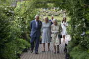 Prince Charles, Prince of Wales, Camilla, Duchess of Cornwall, Queen Elizabeth II, Prince William, Duke of Cambridge and Catherine, Duchess of Cambridge arrive for a drinks reception for Queen Elizabeth II and G7 leaders at The Eden Project during the G7 Summit on June 11, 2021 in St Austell, Cornwall, England. UK Prime Minister, Boris Johnson, hosts leaders from the USA, Japan, Germany, France, Italy and Canada at the G7 Summit. This year the UK has invited India, South Africa, and South Korea to attend the Leaders' Summit as guest countries as well as the EU.