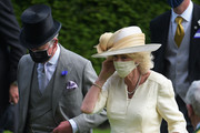 Prince Charles, Prince of Wales (L) and Camilla, Duchess of Cornwall (R) after presenting the Prince Of Wales's Stakes during Royal Ascot 2021 at Ascot Racecourse on June 16, 2021 in Ascot, England.