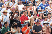 Fans cheer during the match between Gael Monfils of France and Federico Coria of Argentina during his Men's Singles first round match on Day Two of the 2021 US Open at the Billie Jean King National Tennis Center on August 31, 2021 in the Flushing neighborhood of the Queens borough of New York City.