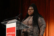 Gabourey Sidibe speaks onstage during the 20th Anniversary Bottomless Closet Luncheon at Cipriani 42nd Street on May 15, 2019 in New York City.