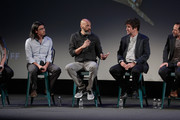 Jeff Orlowski, John Ridley, Greg Barker, and Bryan Fogel onstage at Docs To Watch panel during the 20th Anniversary SCAD Savannah Film Festival on October 29, 2017 in Savannah, Georgia.