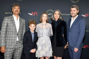 (L-R) Director-actor Taika Waititi, actor Roman Griffin Davis, actor Thomasin McKenzie, writer Christine Leunens, and producer Carthew Neal attend the 20th Annual AFI Awards at Four Seasons Hotel Los Angeles at Beverly Hills on January 03, 2020 in Los Angeles, California.