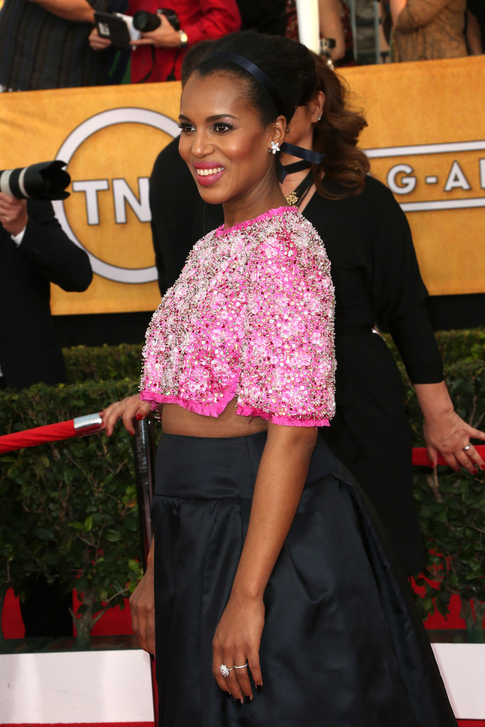 Actress Kerry Washington attends the 20th Annual Screen Actors Guild Awards at The Shrine Auditorium on January 18, 2014 in Los Angeles, California.