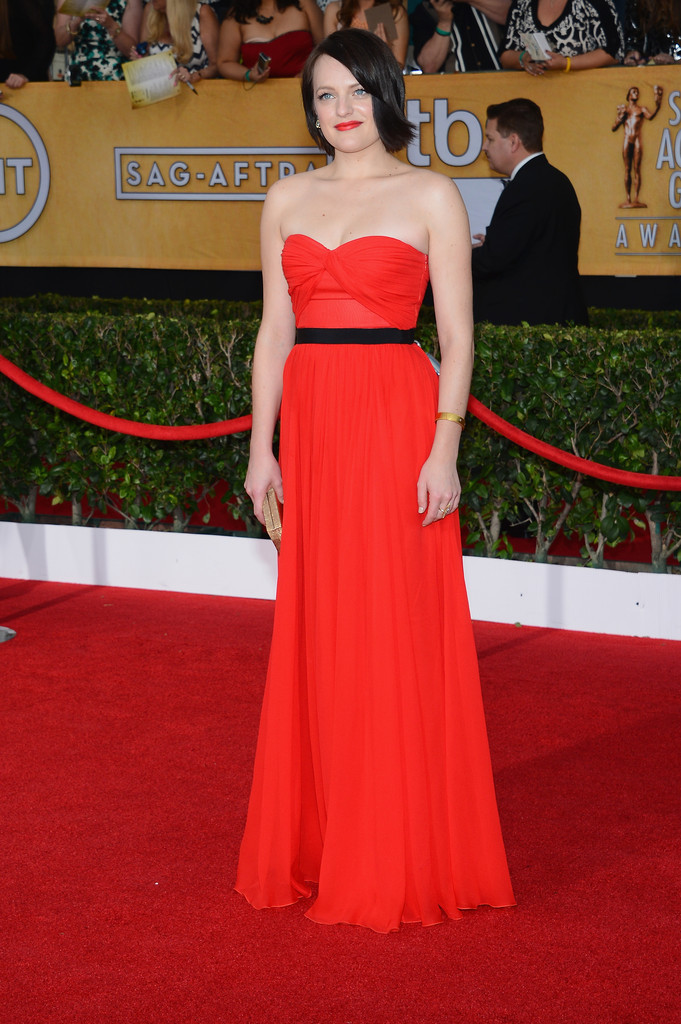 Actress Elisabeth Moss attends the 20th Annual Screen Actors Guild Awards at The Shrine Auditorium on January 18, 2014 in Los Angeles, California.