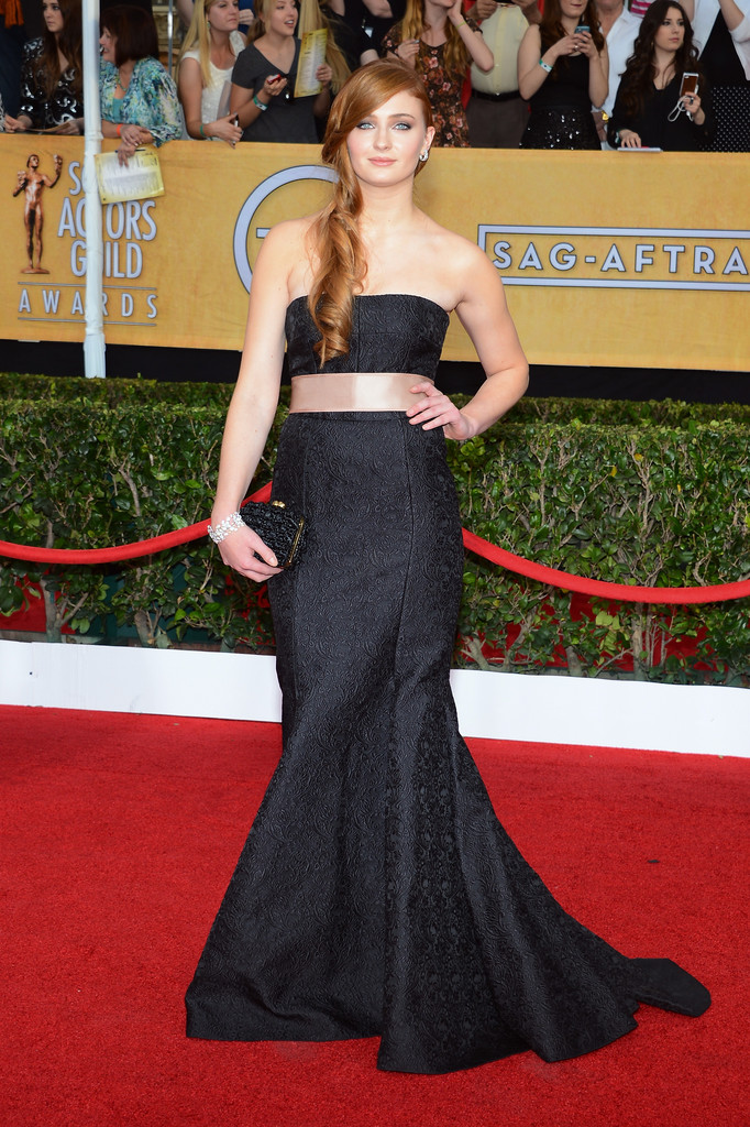 Actress Sophie Turner attends the 20th Annual Screen Actors Guild Awards at The Shrine Auditorium on January 18, 2014 in Los Angeles, California.