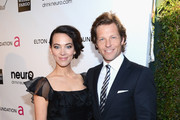 Actors Kerry Norton (L) and Jamie Bamber attend the 21st Annual Elton John AIDS Foundation Academy Awards Viewing Party at Pacific Design Center on February 24, 2013 in West Hollywood, California.