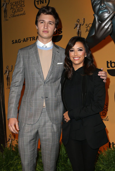 She looks short next to Ansel Elgort.