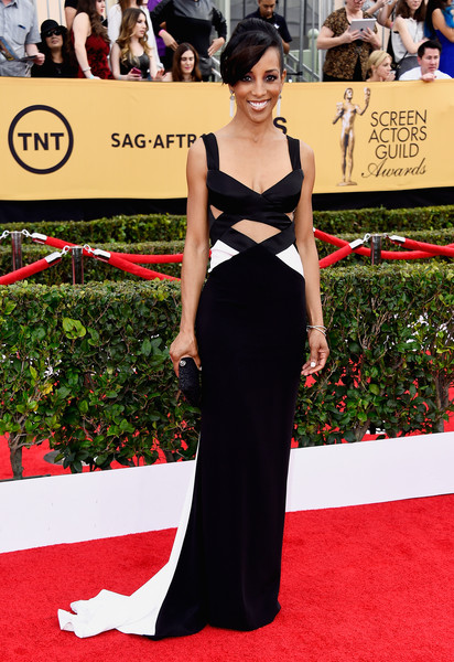 TV personality Shaun Robinson attends the 21st Annual Screen Actors Guild Awards at The Shrine Auditorium on January 25, 2015 in Los Angeles, California.