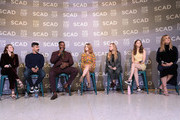 Actors Kayli Carter, Raul Castillo, Winston Duke, Millicent Simmonds, Elsie Fisher, Thomasin McKenzie, and Hari Nef speak at the Entertainment Weekly Breakout Awards Panel at the 21st SCAD Savannah Film Festival on October 27, 2018 in Savannah, Georgia.