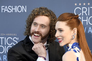 Actor T.J. Miller (L) and Kate Gorney attend The 22nd Annual Critics' Choice Awards at Barker Hangar on December 11, 2016 in Santa Monica, California.