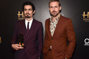 Damien Chazelle (L), Hollywood Director Award recipient, poses with Ryan Gosling in the press room during the 22nd Annual Hollywood Film Awards at The Beverly Hilton Hotel on November 4, 2018 in Beverly Hills, California.