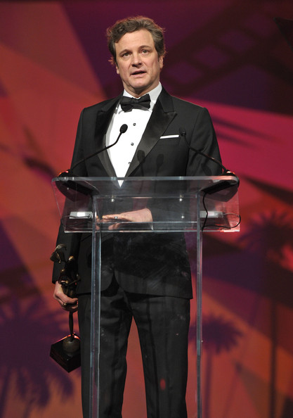 Actor Colin Firth accpets the Desert Palm Achievement Actor Award onstage during the 22nd Annual Palm Springs International Film Festival Awards Gala at the Palm Springs Convention Center on January 8, 2011 in Palm Springs, California.