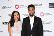 Actress Jurnee Smollett and Josiah Bell attend the 23rd Annual Elton John AIDS Foundation's Oscar Viewing Party on February 22, 2015 in West Hollywood, California.
