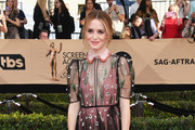 Claire Foy in a Sheer Peter Pan Collar Gown - Best Dressed at the 2017 SAG Awards