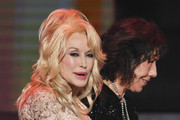 Actor Lily Tomlin (R) accepts the 2016 SAG Life Achievement Award from actor/singer Dolly Parton onstage during The 23rd Annual Screen Actors Guild Awards at The Shrine Auditorium on January 29, 2017 in Los Angeles, California. 26592_014
