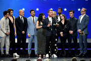 Cast and crew of 'The Assassination of Gianni Versace: American Crime Story' accept the Best Limited Series award  onstage during the 24th annual Critics' Choice Awards at Barker Hangar on January 13, 2019 in Santa Monica, California.